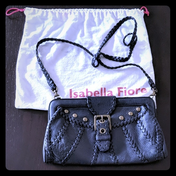 Isabella Fiore Handbags - NWOT Isabella Fiore black leather convertible bag
